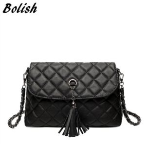 ... Bolish New Style Retro Minimalist Crossbody Bag Fashion Small Women  Shoulder Bag Tassel Women Messenger Bag  38.00 22cbe0d69c
